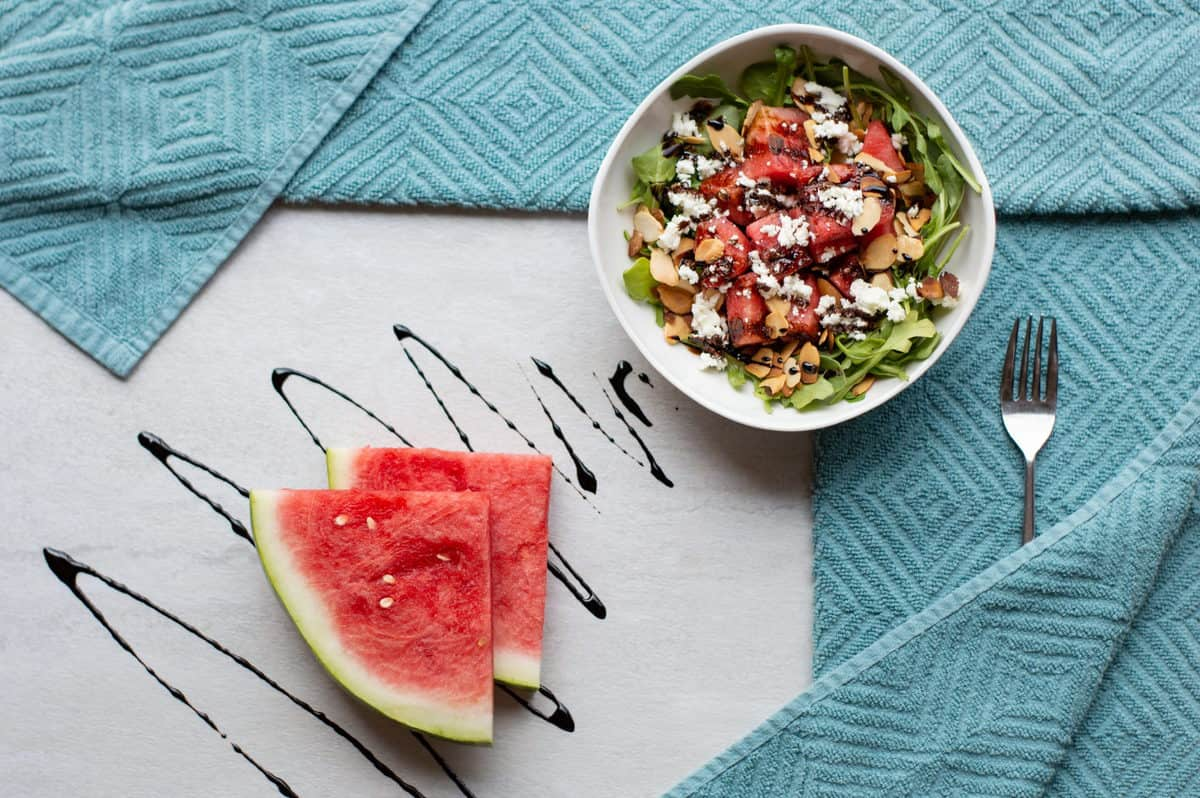 Watermelon, Arugula and Goat Cheese Salad