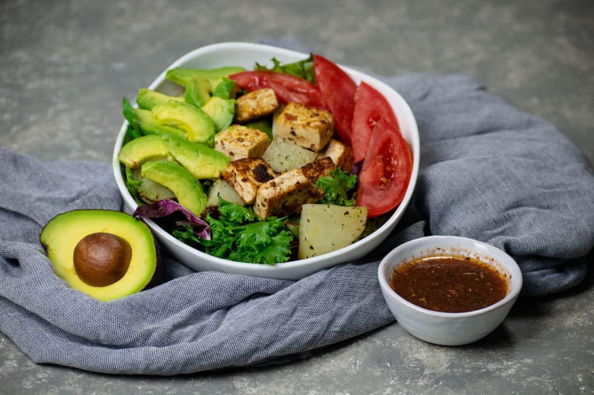 Tofu and Potato Breakfast Salad