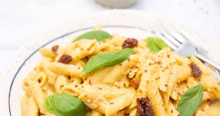 Cauliflower, Roasted Garlic & Sun-dried Tomato Pasta