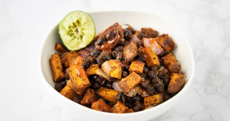 Sheet Pan Sweet Potatoes & Black Beans
