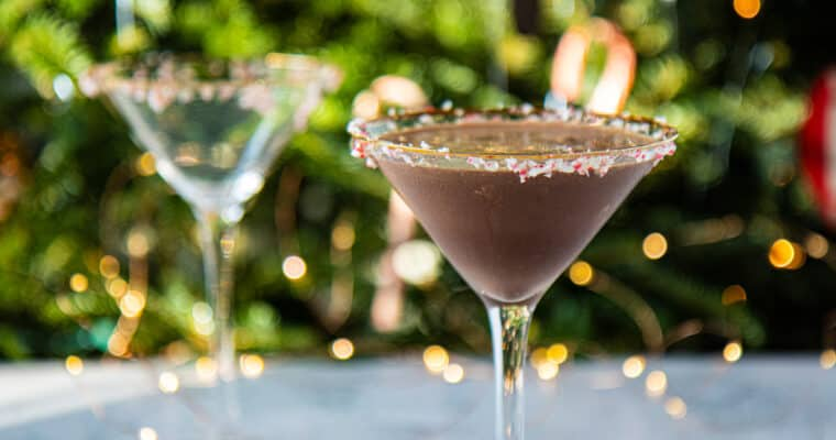 Vegan Chocolate Peppermint-tini
