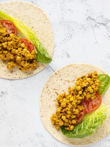 chickpea curry salad wraps
