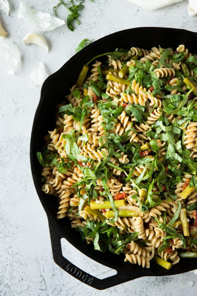 asparagus and sundried tomato rotini