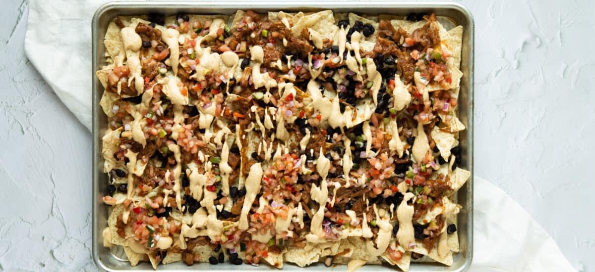BBQ Jackfruit Nachos
