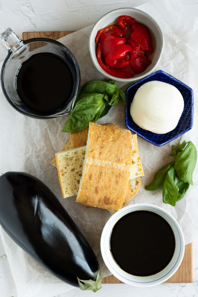 balsamic grilled eggplant sandwich ingredients