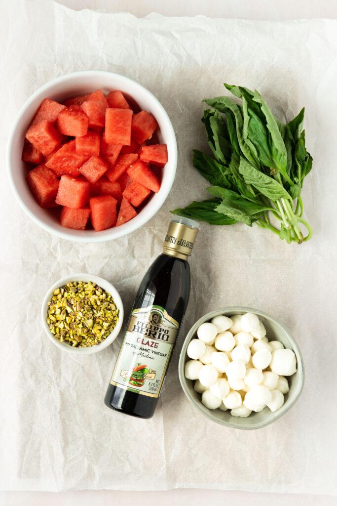 watermelon caprese bites ingredients