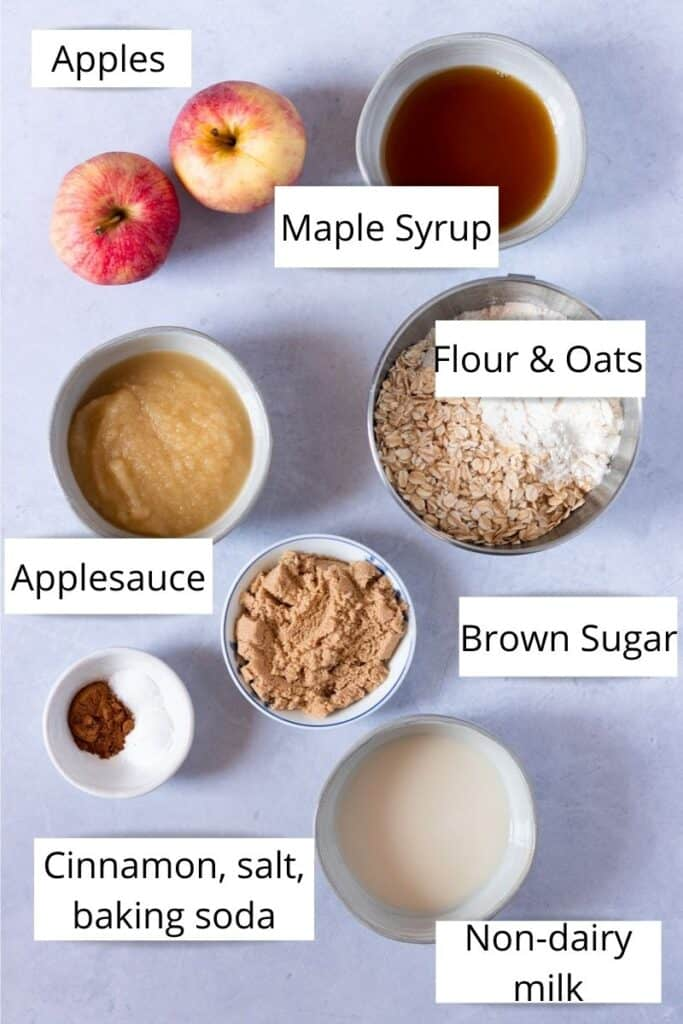 apple oat muffin ingredients