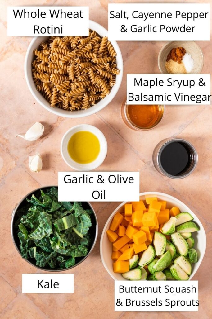 ingredients for fall harvest rotini